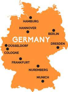 Germany On The Map by Map Of Germany Railpass Com