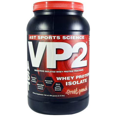Whey Vp2 ast sports science vp2 whey protein isolate fruit punch 2 12 lbs 960 g iherb