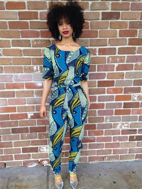 jumpsuit with ankara fashion jumpsuits and ankara on pinterest