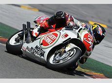 Moto2 Star Scott Redding Rides Kevin Schwantz's Suzuki ... Future Battle Helmet