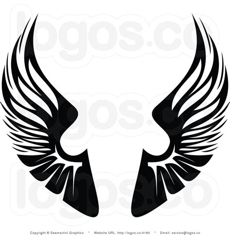 wings clip black wings clipart clipground