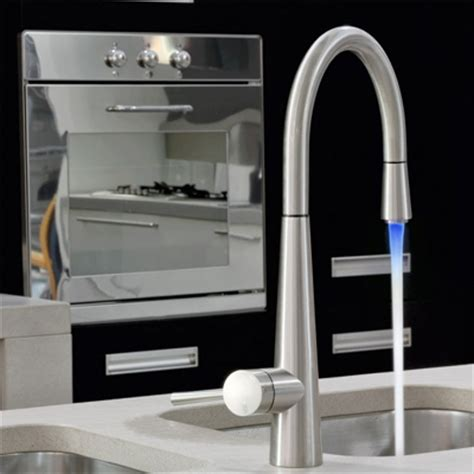 gessi just colour monobloc with pull out spray multi led