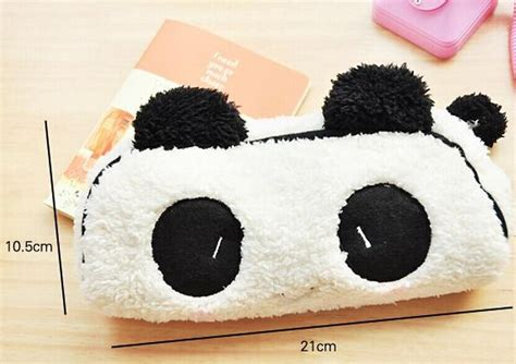 Fluffy Coin Purse Bags kawaii fluffy 21cm panda school pen pencil bag