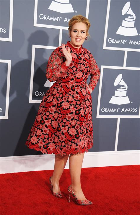 adele grammy photos 2013 grammy awards 2013 adele sets fire to the red carpet in