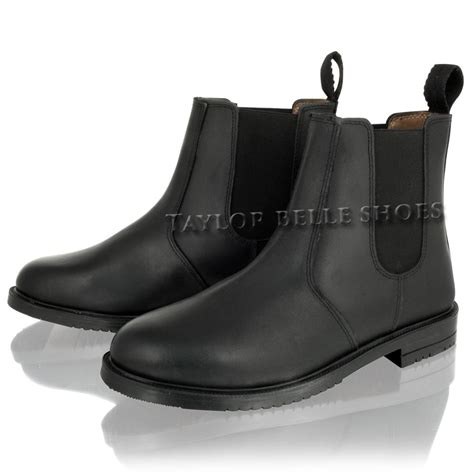 mens casual slip on boots new mens real leather chelsea dealer slip on casual smart
