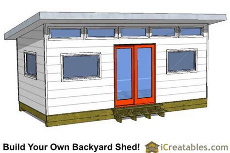 modern studio shed plans