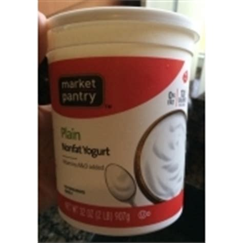 market pantry yogurt non plain calories nutrition