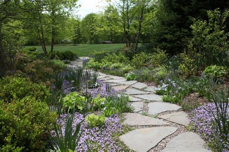 garden path traditional landscape newark by statile todd
