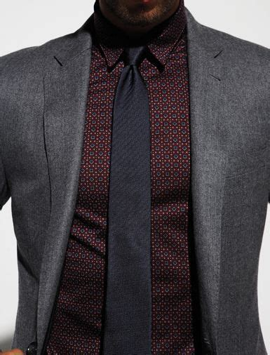 pattern shirt with dark gray suit gray blazer with burgundy shirt and black tie men s