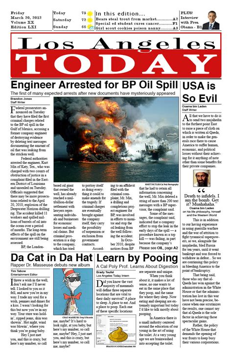 layout newspaper article newspaper layout