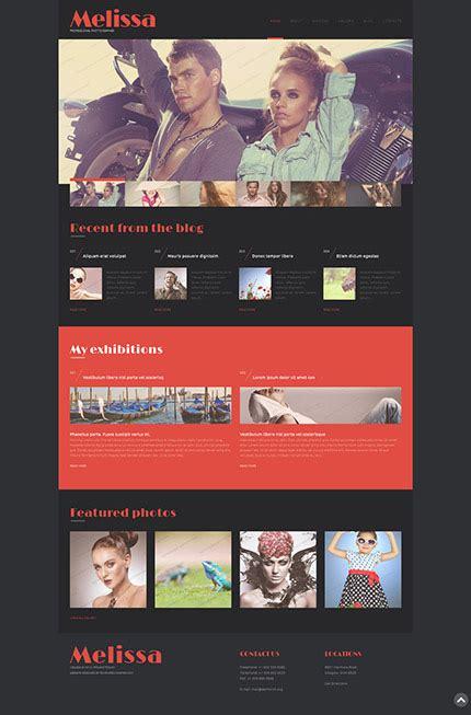 free photography portfolio website templates 30 free stunning website templates instantshift