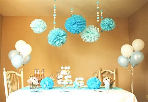 baby boy welcome home decorations items similar to baby blue party amp shower diy decoration