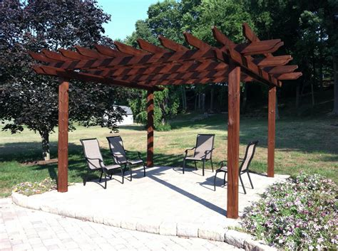 pergola stained  cabot australian timber oil