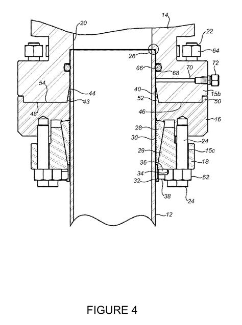 b section wellhead patent us8061419 casing head slip lock connection for
