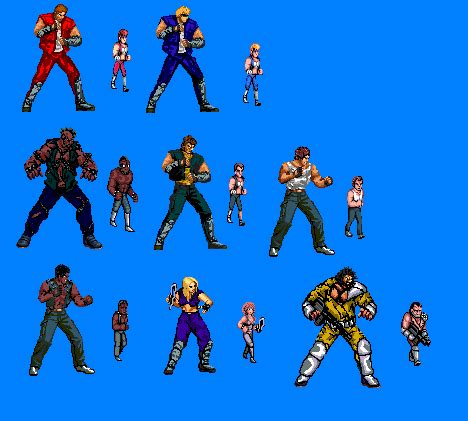 my double dragon sprites by dead reconing on deviantart