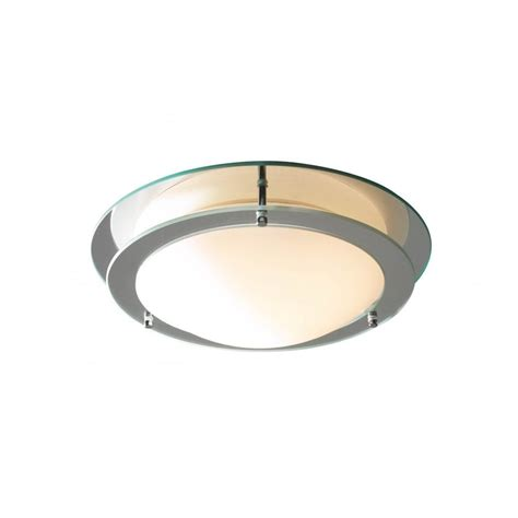 dar lighting lib50 ip44 flush glass ceiling light