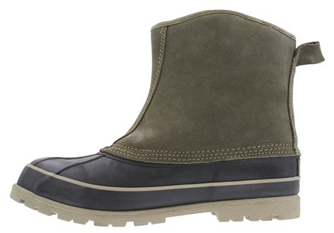 mens slip on duck boots slip on mens winter boots boot sale