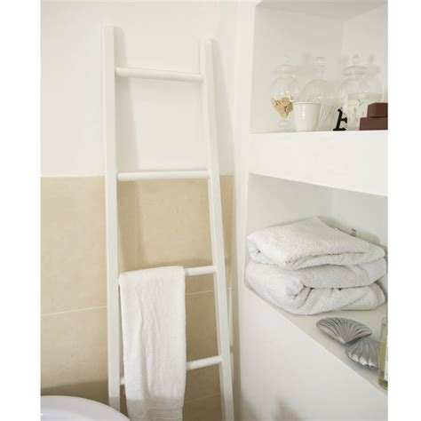 white towel rails for bathrooms white wooden towel ladder towels towel rail and chic