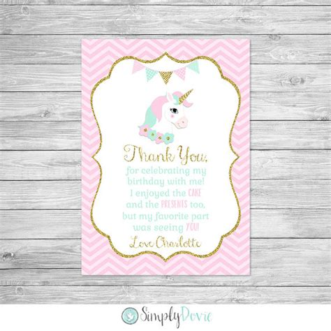 free printable birthday card unicorn unicorn birthday thank you card printable unicorn