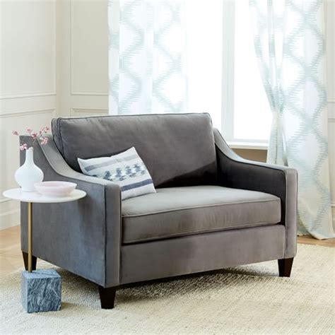 west elm paidge sleeper sofa reviews paidge chair and a half sleeper west elm