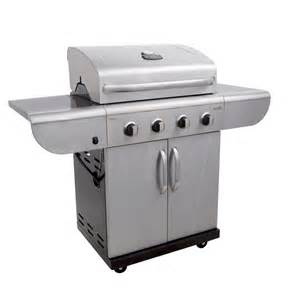 Char broil 4 burner gas grill stainless steel black walmart com