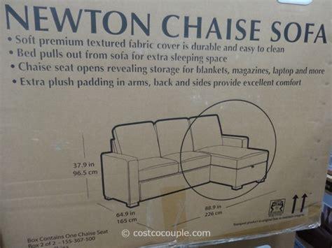 newton chaise sofa bed costco newton chaise sofa