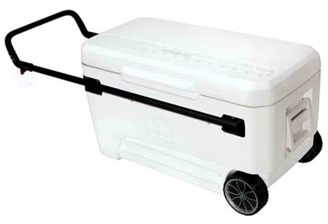 heavy duty coolers with wheels new igloo big 110 quart rolling cooler large ice chest