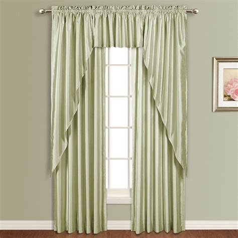 drapery companies united curtain company anna 54 x 84 faux silk panel white