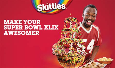 Skittles Sweepstakes - make your super bowl xlix awesomer sweepstakes text