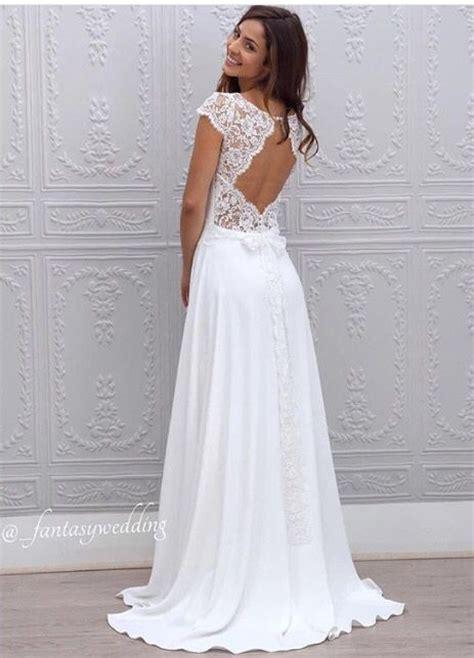 Spitzen Hochzeitskleid by Spitze Brautkleid R 252 Ckenfrei Brautkleider