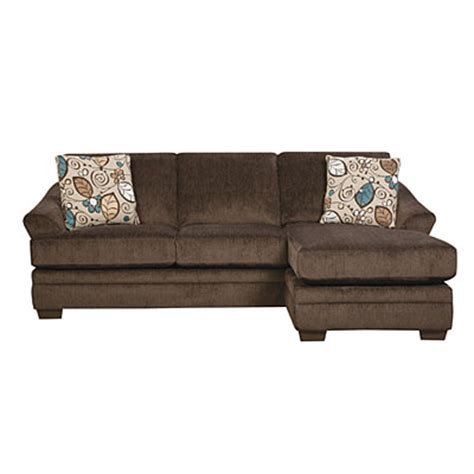 simmons sofa big lots simmons 174 sunflower brown sofa with reversible chaise big