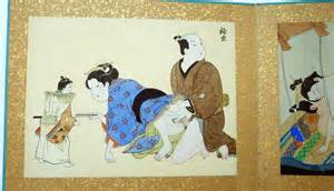 Pillow Book Gallery by Antique Japanese Shunga Pillow Book Album 19th Century