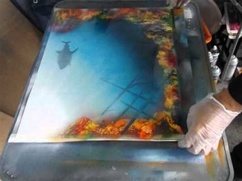 spray paint coral reefs spray paint creating a coral reef shipwreck and shark