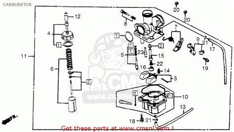 honda trx200 fourtrax 200 1984 e usa carburetor