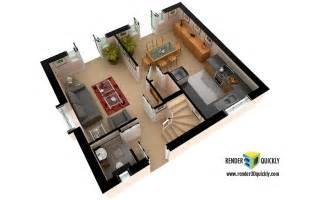 3d floor plans and layout renderings