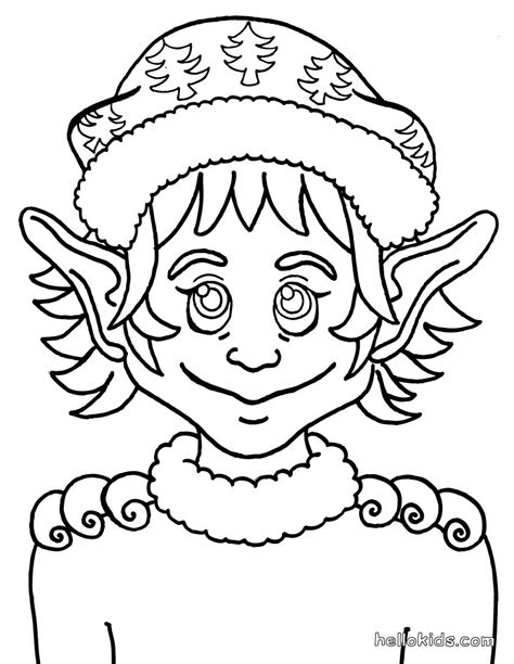 elf ears coloring pages elf pointed ears coloring pages hellokids com