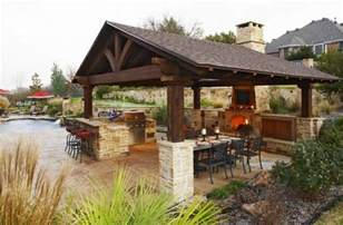 Covered Outdoor Kitchen Designs Outdoor Kitchen Designs Featuring Pizza Ovens Fireplaces And Other Cool Accessories