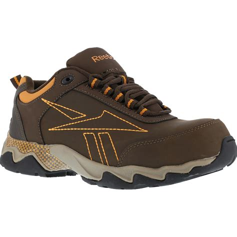 athletic safety toe shoes s brown composite toe work athletic shoe reebok beamer