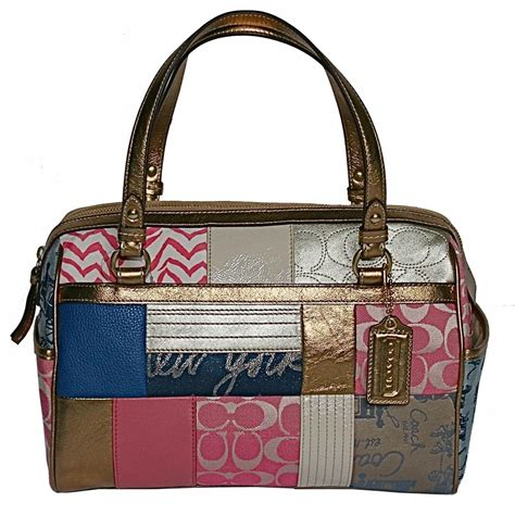 Coach Patchwork Purses - coach patchwork satchel nwt 17164 handbags purses