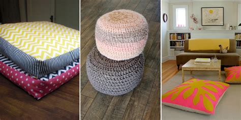 comfy floor pillows 12 stylish and comfy diy floor pillows