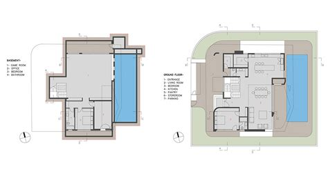 basement ground floor plan intriguing contemporary villa