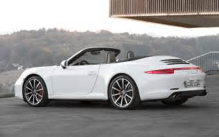Porsche 911 Cabriolet White 2013 Porsche 911 4s Cabriolet White Rear Three