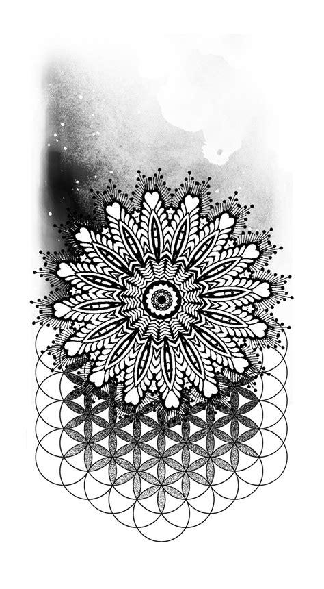 mandala tattoo artist custom designs contemporary artist joelle poulos