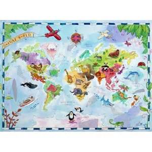 Kids Share Room by World Map Baby Kids Room Pinterest