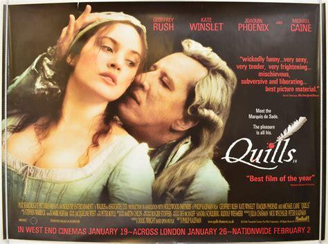 film quills cast quills original cinema movie poster from pastposters com