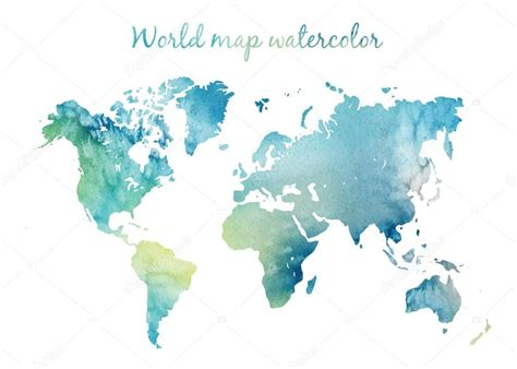 water color map watercolor world map in vector stock vector