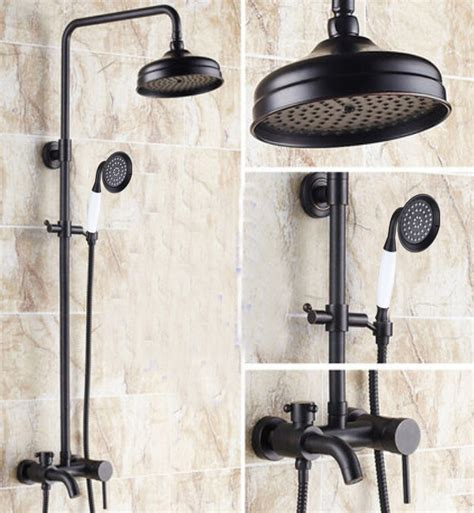 Wall Mounted Bathroom Sink Faucets Cascades Oil Rubbed Bronze Wall Mounted Rainfall Shower