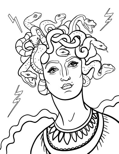 printable medusa coloring page free pdf download at http
