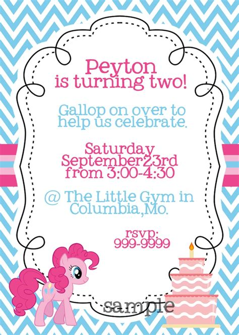 pony invitation card template free printable my pony birthday invitations