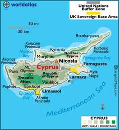 Cyprus World Map by Cyprus Large Color Map